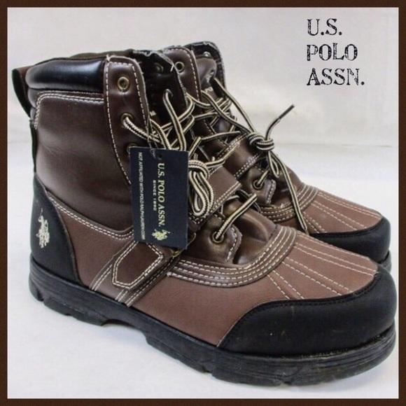 35e99740892 U.S. Polo Association Brn/Blk Buckle Mid Boot 11 NWT